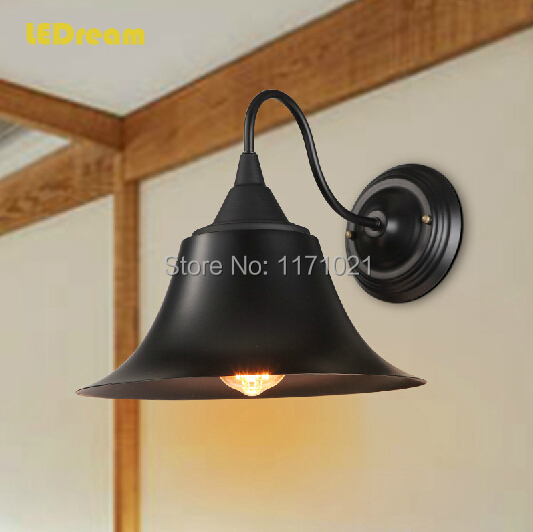 ФОТО Antique, wrought iron LED wall lamp, American country restoring ancient way  the head of a bed bedroom living room corridor lamp
