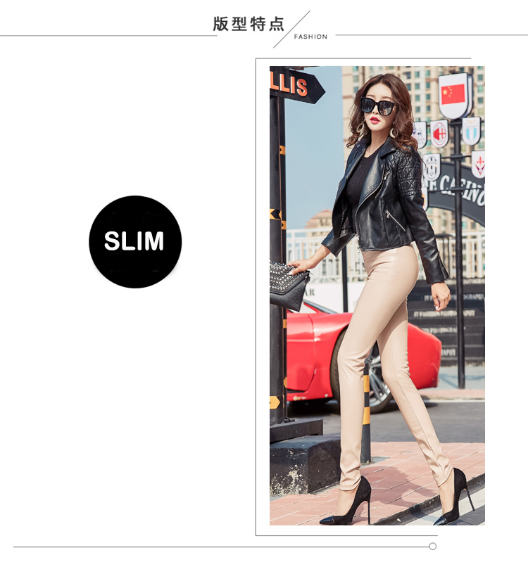 Autumn Winter Women Thin Velvet PU Leather Pants Female Sexy Elastic Stretch Faux Leather Skinny Pencil Pant Women Tight Trouser 21