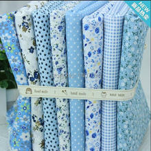 2017 Telas Tulle Rolls Patchwork 8pcs Small Piece 24x24cm Cotton Sewing Fabrics Light Blue Series Floral Talasite And Material