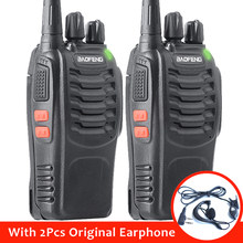2pcs BaoFeng BF-888S Portable Walkie Talkie 16CH bf 888s Two Way Radio Hunting Transceiver with Earphone(China)