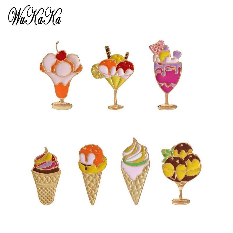 1PC 2017 Hot Ice Cream Shape Funny Cute Brooch Fashion Decoration Clothes DIY