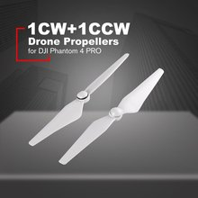 2 Pcs Propeller 9450 S Props for DJI Phantom 4 PRO Quick Release Drone Props Blade P4 Wing Fans Spare Parts (1CW+1CCW) dji phantom 3 9455s carbon fiber propeller low noise props folding propeller for phantom 2 drone parts noise reduction 9455 wing