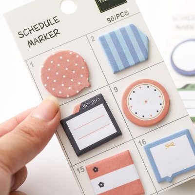 Korean Profiled Six Directions Stickers Mini Portable Sticky Notes and Memo Pads Cute Memo Pad Post for Dokibook Notebook