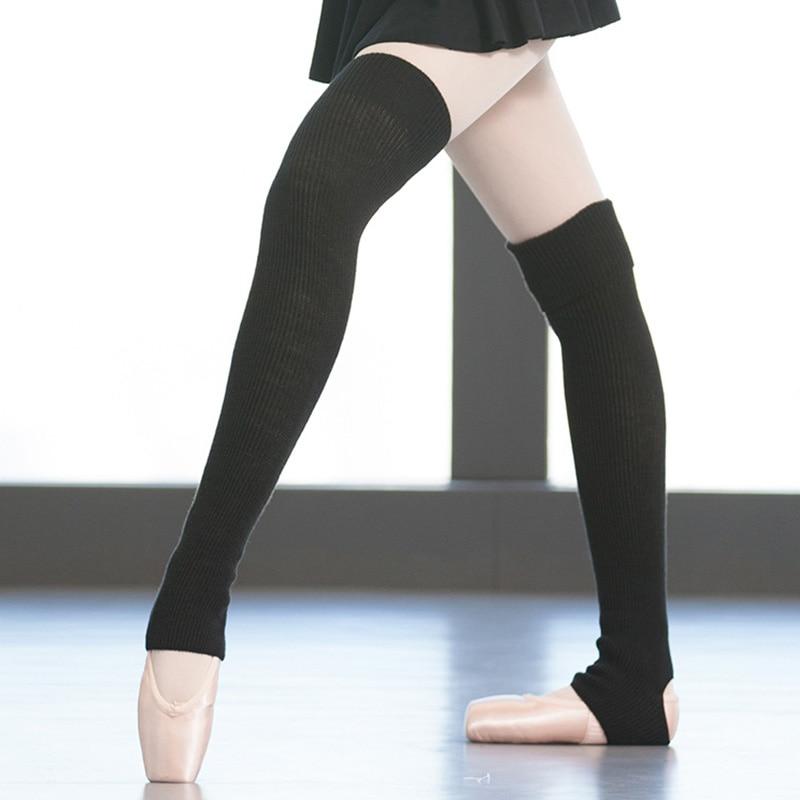 Pink White Black Ballet Socks