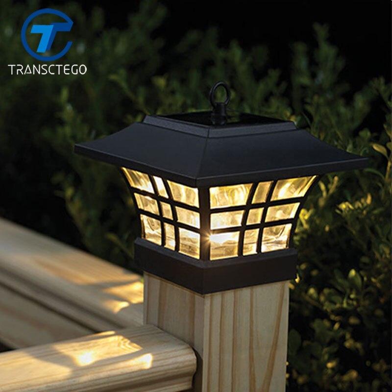 LED Solar Lamp Outdoor Waterproof Garden Energy Wall Lamp Landscape  Courtyard Garden Light Household Lampada Fence Post Pillar