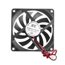 12V охлаждающий вентилятор для ПК 2-контактный 80x80x10 мм компьютер Процессор Системы радиатора Бесщеточный вентилятор охлаждения 8010