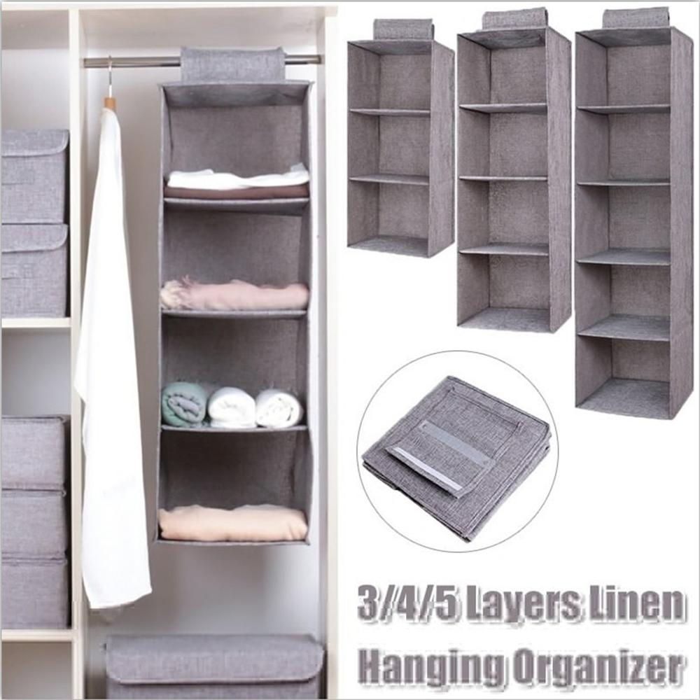 Toy-Organizer Storage-Bag Wardrobe Closet Cosmetics Hanging Multi-Layers Modern Linen