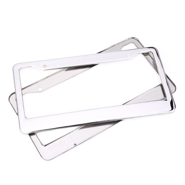 XC - 9E8 USA License Plate Frame Stainless Steel Rust Protection Compact Design Easy to Install Suit for Variety of Vehicles