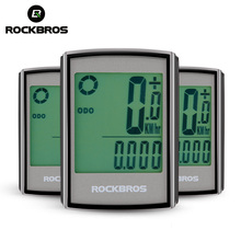 ROCKBROS Waterproof Bicycle Computer LCD Backlight Stopwatch Wireless Cycling Bike Computer Speedometer Odometer MTB Accessories
