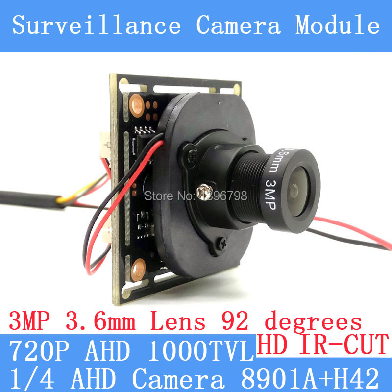 Color HD CMOS 1000TVL AHD CCTV Camera Module 3MP 3.6mm Lens+PAL or NTSC Optional surveillance cameras IR-CUT dual-filter switch 720p ahd coaxial 360degree fisheye panoramic hd surveillance camera cctv camera module security indoor ir cut dual filter switch