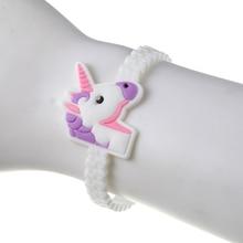 Girls' Silicone Unicorn Bracelets Set