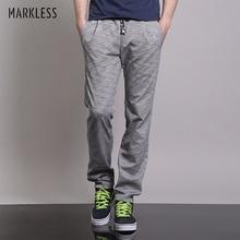 Markless прямые джоггеры спортивные штаны мужские модные повседневные тонкие брюки мужские размера плюс 3XL свободные дышащие уличные брюки