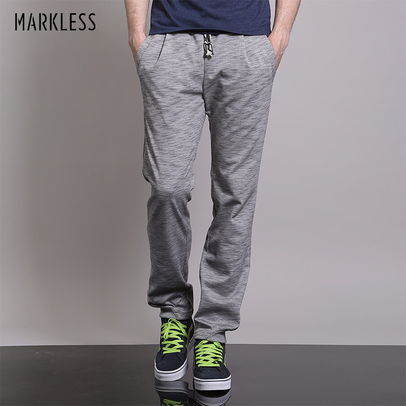 Μάρκα Straight Joggers Sweatpants Ανδρικό μόδα Casual Thin Pants Αρσενικό Plus Size 3XL Loose Breathable Streetwear Παντελόνια