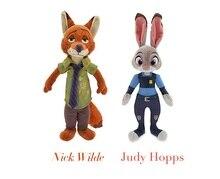 2016 New Movie 30cm Zootopia rabbit Judy Hopps Nick Wilde police women cute Plush soft doll