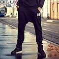 Черный Гарем Брюки Мужчины Плюс Размер 3XL 4XL 5XL 6XL Мешковатые Мужской Тренировочные Брюки 2016 Осень Зима Мужские Штаны 1047 брюки