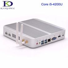 Kingdel Мини Промышленные PC, Intel i5-4200U Вентилятора Компьютера, HTPC С 16 ГБ RAM + 128 ГБ SSD, HDMI, 4 * USB, 300 М Wi-Fi, Windows 10 Pro