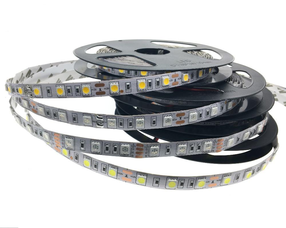 5050 LED trak 12V prilagodljiva dekoracija razsvetljava LED trak RGB / bela / topla bela / modra / zelena / rdeča