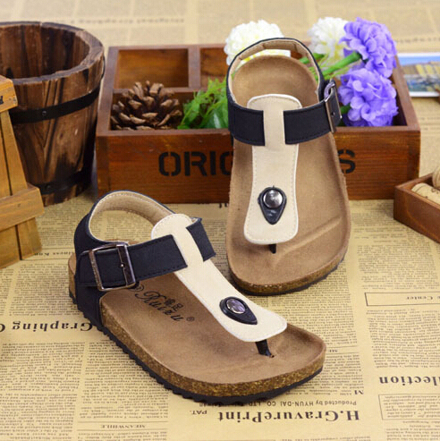 f514aaf0cbb new summer style children s shoes brand birkenstock sandalias boys and  girls shoes cork sandals children s shoes 10 color