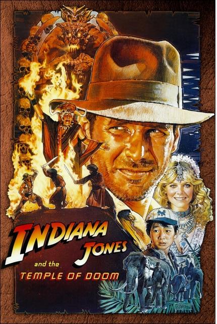 Indiana Jones I świątyni 1984 Klasyczne Plakaty Filmowe I Druku