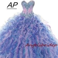 Quinceanera-Dresses Beading Party-Gown Sweetheart ANGELSBRIEP Vestidos-De-Debutantes