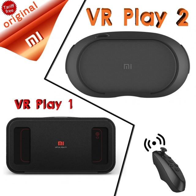 In Stock Xiaomi VR Original Mi Box Virtual Reality Xiaomi VR Play 1 3D Immersive Headset Cardboard for 4.7- 5.7 inch Phone
