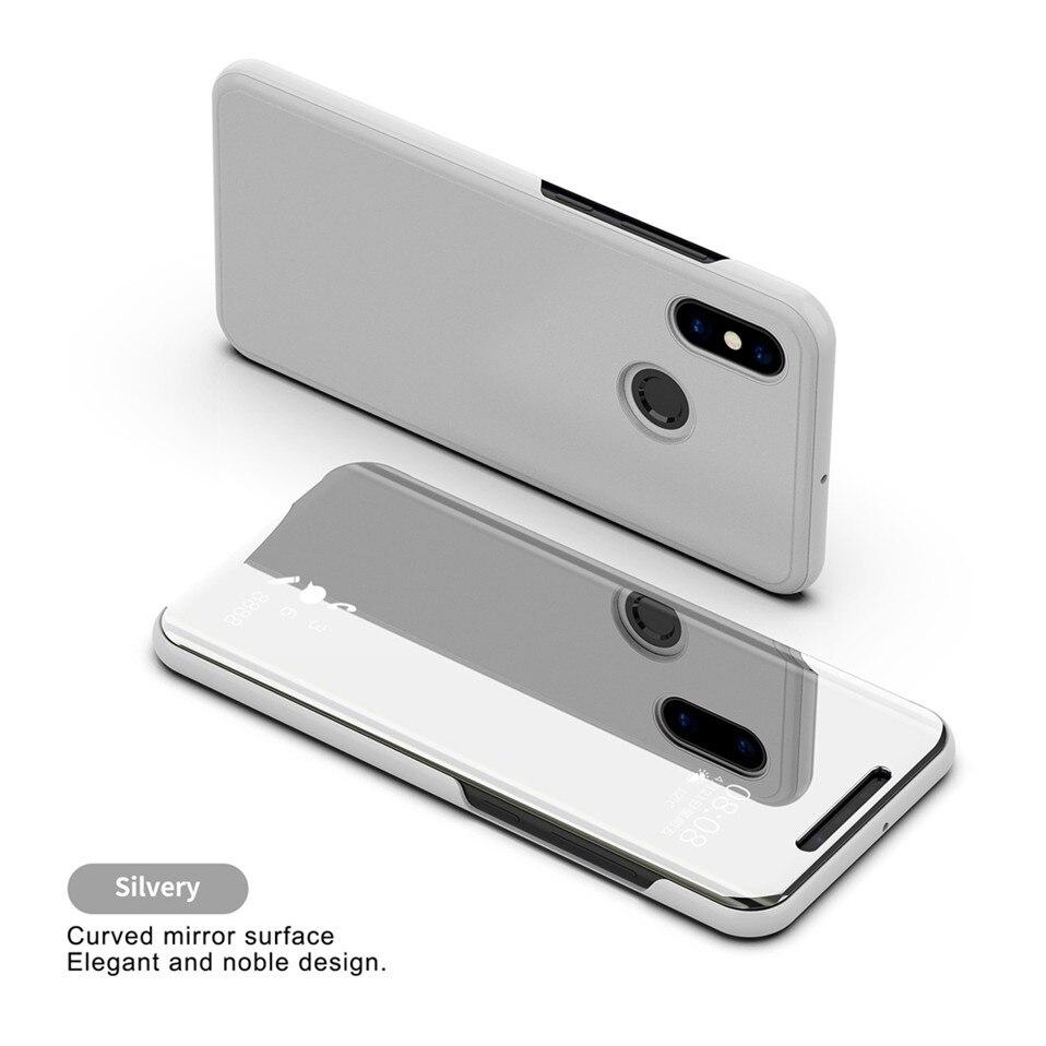 Mirror Flip Case For Xioami Redmi Note 7 5 6 pro 15