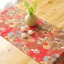 Классический китайский стиль Текстиль хлопок и лен настольная дорожка китайский цветок этнический стиль дома и садовая ткань Настольный флаг