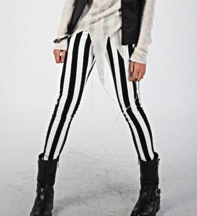 Online Get Cheap Mens Striped Pants Black White -Aliexpress.com ...