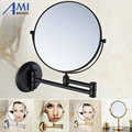 "8"" Brass Bathroom Makeup Mirror Cosmetic Mirror Double Faced Magnifying Bath Mirrors Antique/gold/chrome/black  51MA"