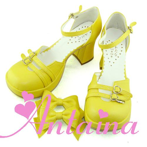 Princess sweet lolita shose Lolilloliyoyo antaina gothic shoes customcos punk bow good looking 9806 princess shoes PU feather
