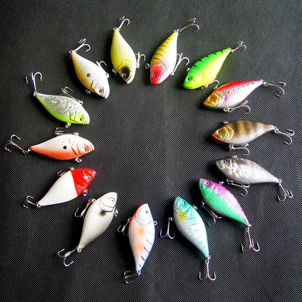 Free shipping, Fishing  Lure,Hard Plastic fish, VIB,7.5cm/15g-1/2oz