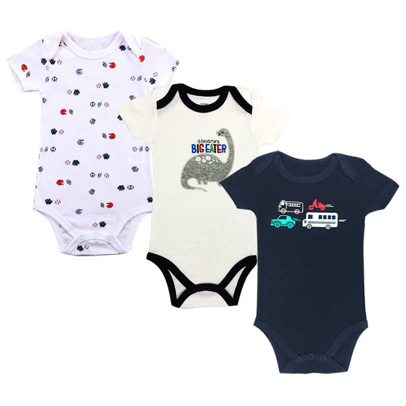 3pcs/set Newborn bodysuits Baby boy Clothes New born baby bodysuits Summer Short sleeve Cotton Infant jumpsuits 0-24 months