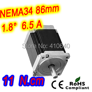Nema 34 Stepper motor 34HS61-6504S L155 mm  with 1.8 deg stepper angle current  6.5 A  torque 11 N.cm and 4 wires