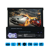 Universal 7 Inch Telescopic Large Screen Bluetooth Car Audio MP5 Player Audio Vedio MP3 MP4 With