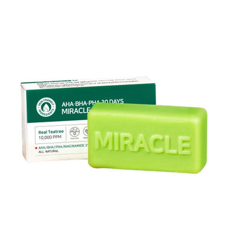SOME BY MI AHA BHA PHA 30 Days Miracle Cleansing Bar 106g Face Soap Acne Treatment Blackhead Remover Dead Skin Facial Cleanser цена