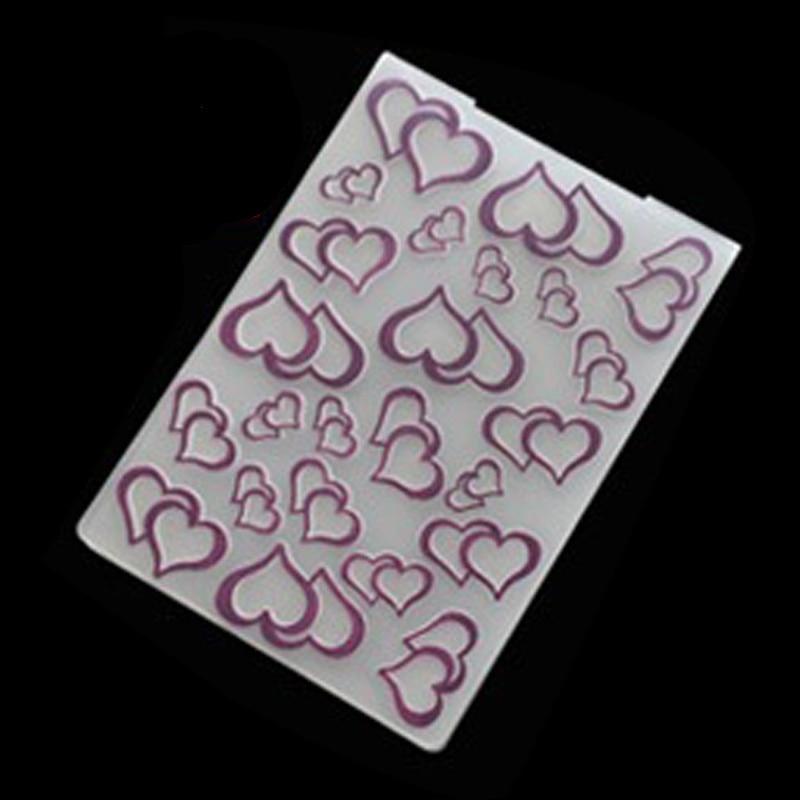 fast-shop Plastic Embossing Folder Template DIY Scrapbook Photo Album Card Craft DIY Lace Dot Practical and Useful