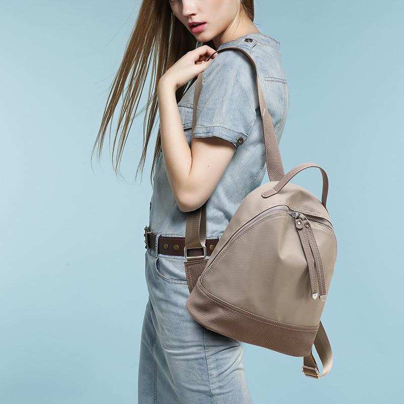 Women Genuine Leather Bag Brand Backpacks Famous Designer Backpack Kanken  Classic backpacks for teenage girls Travel bag C282-in Backpacks from  Luggage ... 0230f295daf1c