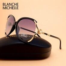 Blanche Michelle 2019 Frauen Sonnenbrille Polarisierte UV400 Marke Designer Hohe Qualität Gradienten Sonnenbrille Weiblichen oculos Mit Box