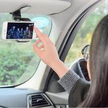 Innovative Universal Safe Sun Visor Car Phone Holder Car Navigation Holder Clip Install On Mirror Handle For Mobile Phone(China)