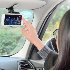 Innovative Universal Safe Sun Visor Car Phone Holder Car Navigation Holder Clip Install On Mirror Handle For Mobile Phone(China)