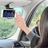 Inovador universal seguro viseira de sol titular do telefone do carro navegação titular clipe instalar no punho espelho para o telefone móvel