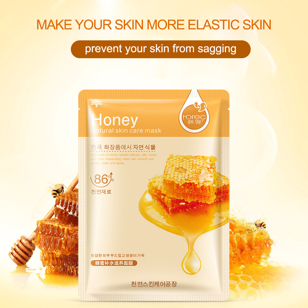 Face Skin Care Moisturizer Face Masks Natural Plant Facial Mask Whitening Oil Control Wrapped Mask Aloe Vera Honey Facial Masks 3