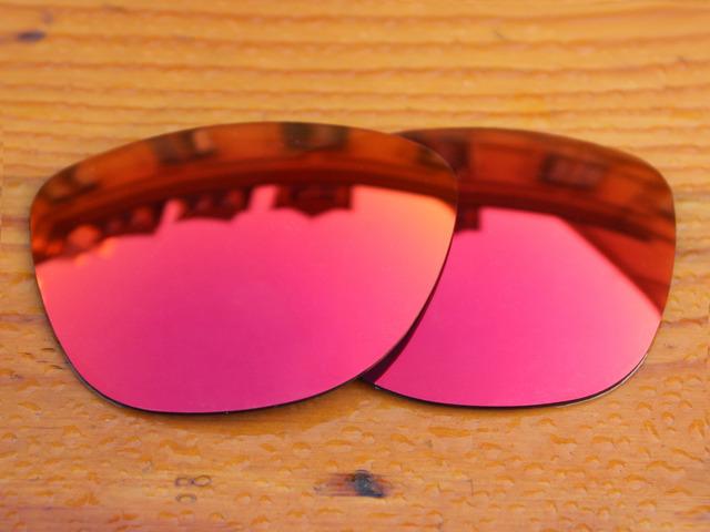 Policarbonato-Fire Red Espelho Lentes de Reposição Para óculos Frogskins Óculos De Sol Quadro 100% UVA & Uvb