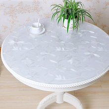 1.0mm Pvc Waterproof Tablecloth Round tablecloth Table Cover Transparent kitchen pattern oil glass soft cloth  mat