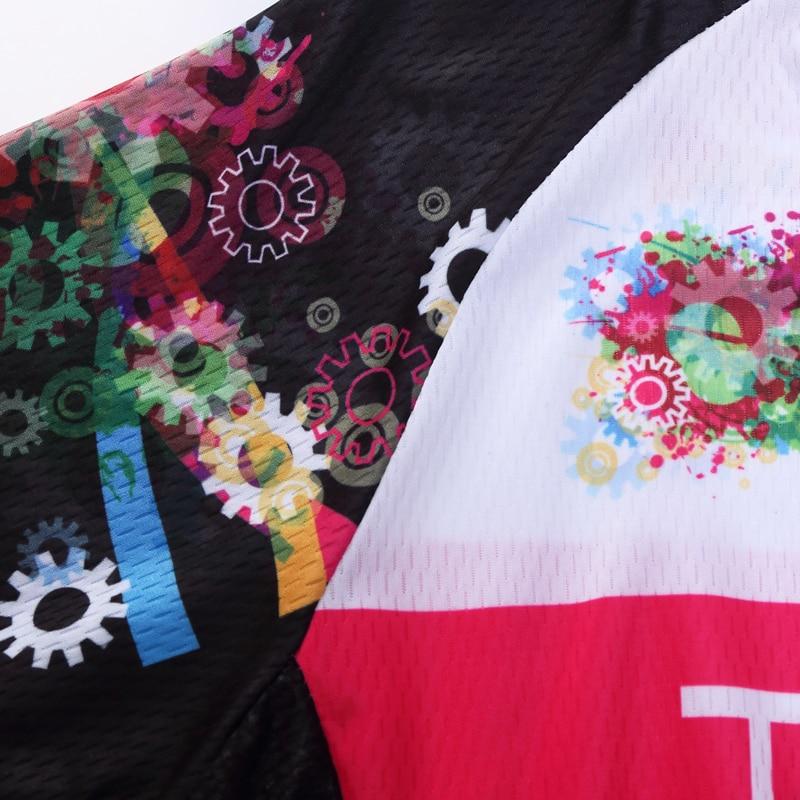 Yarış Kesim Kadın Bisiklet Forması Setleri Polyester Sürme - Bisiklet Sürmek - Fotoğraf 6
