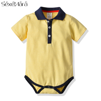 2019 Baby Bodysuit Fashion Baby Boys Girls Clothes Infant Jumpsuit Overalls Short Sleeve Cotton stripe Newborn Baby Clothing
