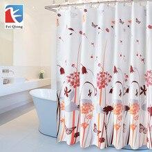 Фотография 1.8*1.8m waterproof shower curtain polyester shower cortinas bathroom curtains 12hooks free freeshipping