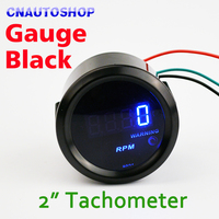 Car Tachometer 2 52mm 0 9999 RPM Auto Gauge TAC Meter Tacho Blue LED Digital Display