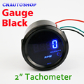 "Car Tachometer 2"" 52mm 0-9999 RPM Auto Gauge TAC Meter Tacho Blue LED Digital Display for 12V Vehicles"