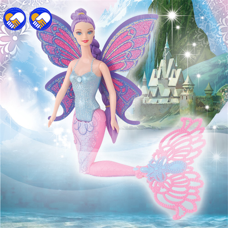 A toy A dream Original Swimming Mermaid Dolls Ariel Mermaid Doll With Wings Toys Ariel Princess Jointed Mermaid Bonecas For Gift